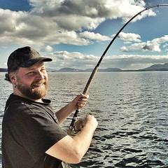 Cap'n Ryan Fishkiller gettin er done Galiano Island style #bctough (Kris Krug) Tags: square fishing galiano salmon squareformat kingfisher gulfislands fishingboat galianoisland salmonfishing islandlife salishsea outdooradventure westcoastliving charterfishing salishseacharters iphoneography instagramapp uploaded:by=instagram foursquare:venue=4f0231fdd5fb3b79af9374c3
