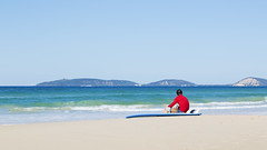 Waiting for a wave (mcb photography) Tags: ocean sea beach coral coast sand surf surfing queensland coastline rainbowbeach mikebarber coastlne coralocean pacofic