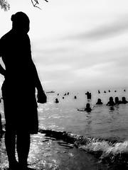 shadow of your smile (canencia) Tags: shadow sea summer people black beach fun island back philippines bohol carlo behind sibugaw
