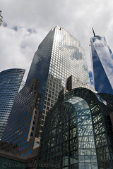 World Financial and Trade Centers (SamuelWalters74) Tags: newyorkcity manhattan worldtradecenter financialdistrict goldmansachstower freedomtower 1worldtradecenter 1wtc oneworldtradecenter 200weststreet