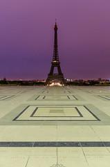 Trocadero, Parvis des Droits de l'Homme (David Bertho) Tags: city paris france architecture night nikon alone eiffeltower lightroom trocadro d7000