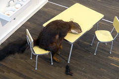 Bidibidobidiboo (mitue) Tags: berlin 1996 abwasch eichhörnchen selbstmord mauriziocattelan nks mecollectorsroom sandrettorerebaudengocollection