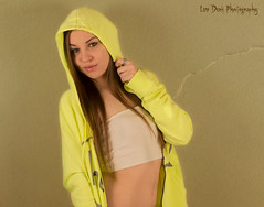 Go Green (Keltron - Thanks for 10M Views!) Tags: sexy hoodie model pretty rebecca hazeleyes prettygirl haltertop sexygirl youngmodel