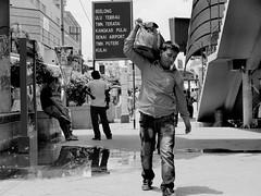 Street Photography - On my shoulder (-Faisal Aljunied - !!) Tags: street people blackandwhite bw monochrome geotagged asian photography mono yahoo asia southeastasia flickr streetphotography streetscene olympus monotone malaysia omd johorbahru streetphotographer m43 mft streetsnap aljunied onmyshoulder flickriver micro43 microfourthirds flickrblackandwhite olympusstreetphotography olympusomdem5 omdem5 panasoniclumixgxvario35100mmf28 faisalaljunied