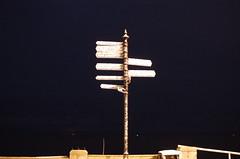 Evening at Lowestoft after light snow (series)