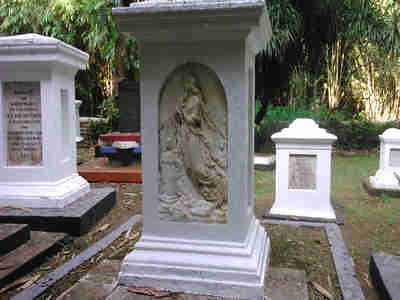 The old dutch graveyard in Bogor Botanical Gardens