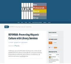 REFORMA- Promoting Hispanic Culture with Library Services (Mary Luz Marques) Tags: culture spanish latino hispanic reforma crosscultural ifla librarianship npsig marymarques