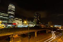Roads of London (2 of 18) (johnlinford) Tags: city longexposure england urban london night landscape lights poplar unitedkingdom 7d gb docklands canonefs1022 canoneos7d