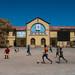 Children playing foorball in front of the ethiopia to djibouti railway station, Dire dawa region, Dire dawa, Ethiopia