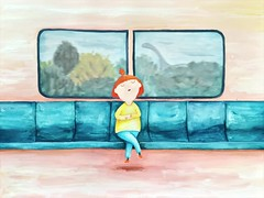 SG commuter (The Lily X) Tags: illustration train watercolor painting childlike thelilyx