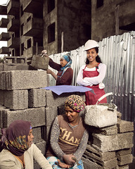 Helinaworks for a real estate construction firm (World Bank Photo Collection) Tags: africa opportunity woman work concrete workers construction women employment jobs cement blocks ethiopia addisababa gender worldbank