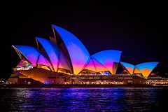 Vivid Sunset (Ed O_o) Tags: sydneyoperahouse vivid festival lights 2016 projections asthetic nikon d810 85mm 18g nikkor night sydney opera house sydneyharbour winter architecture sails
