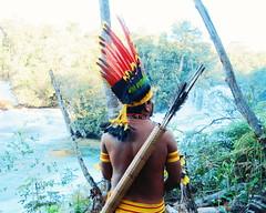Aldeia Quatro Cachoeiras (fergprado) Tags: travel brazil man nature water rio gua brasil river culture floresta homem arco florest cultura tribo indigenous aldeia flecha ndio cahoeira cocar idigena