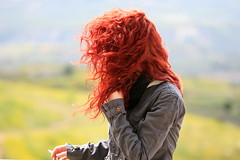 he girl of May... (klentosharry) Tags: red portrait woman color girl female canon may canoneos5d