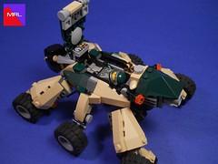 MRL - Jade, cockpit (MySnailEatsPizza) Tags: green race insect robot cool lego legs beetle tan machine racing jade rocket burst six meh league mecha mrl mech boost