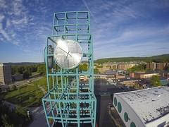 Aerial images of Binghamton University (BinghamtonUniversity) Tags: usa ny tower clock union vestal aerials 2015 buildingsandfacilites