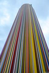 La Défense (pi3rreo) Tags: city sky urban abstract paris couleurs textures ciel esplanade fujifilm extérieur fujinon ville défense urbain abstrait hauteur xe2
