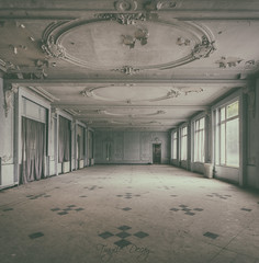 Circle around in the ballroom... (Fragile Decay) Tags: urban circle hotel dancing decay empty exploring forbidden forgotten ballroom fragile thermal urbex
