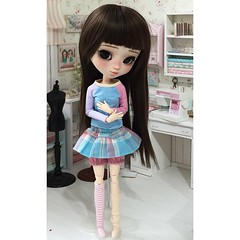 New colorfull set ;)#petitecreayations #outfit #pullip #blythe #pastel #pink #blue #dots #stripes #poisongirldolls #custom (Aya_27) Tags: pink blue outfit pastel stripes pullip blythe dots custom petitecreayations poisongirldolls