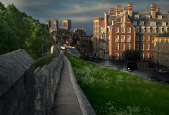 City Walls (Stephen Tierney.) Tags: york wall cityscape minster 50mmf18 sidelight canon6d stephentierney wwwstephentierneycouk
