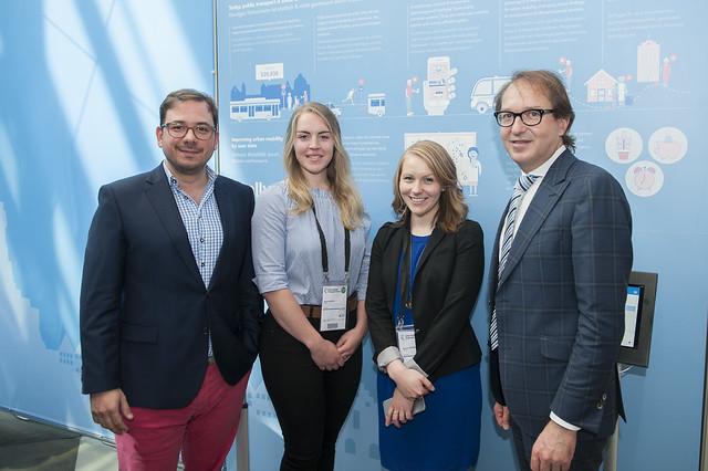 Maxim Nohroudi, Sarah Höcker, Jennifer Beckermann and Alexander Dobrindt pose for a picture