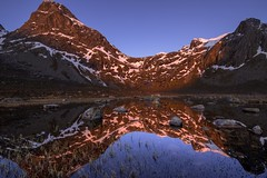 Reflections (tryggstrand) Tags: travel blue sunset sky mountain snow mountains reflection nature water norway sunrise reflections landscape landscapes spring nikon flickr wideangle d750 tamron midnightsun 500px viewbug instagram nikond750