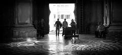 Entering the Church (Just Ard) Tags: street venice light people blackandwhite bw blancoynegro church monochrome person photography 50mm mono nikon noiretblanc zwartwit candid d750 unposed  biancoenero schwarzundweis justard