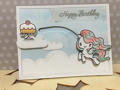 Birthday: magical birthday (WorldofCreativity) Tags: simon stamp pony says birthdaycard mamaelephant greetingfarm slidercard lawnfawn lawnfawnspringshower lawnfawnmoveonover