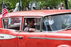 Red Rambler, Memorial Day Parade, Dexter, Michigan, 2015 (marylea) Tags: red classic car community classiccar michigan parade rambler dexter memorialday 2015 may25 memorialdayparade washtenawcounty