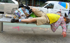 Hot town, summer in the city (Robert Saucier) Tags: street newyorkcity newyork pavement manhattan sidewalk rue trottoir summerinthecity img2792 lovinspoonful