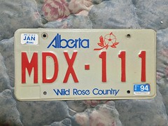 ALBERTA 1994 ---LICENSE PLATE #MDX-111 (woody1778a) Tags: woody licenseplate mytraders fortrade forsale tradelist numberplate woody1778 alpca collector