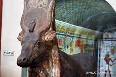 Goddess Hathor (konde) Tags: statue museum ancient cobra goddess chapel frieze cairo limestone 18thdynasty hieroglyphs thebes hathor deirelbahri thutmoseiii newkingdom mortuarytemple tuthmose sundisc khekeru