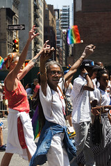 Cheer (EC Stainsby) Tags: street nyc newyorkcity summer usa ny newyork fun outdoor colorfull pride parade east lgbt avenue fifth thirtieth colourfull sunnny