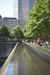 Look (Amelia Cacchione) Tags: 911 memorial new york city september 11 pool fountain people world trade center freedom tower nyc tourist