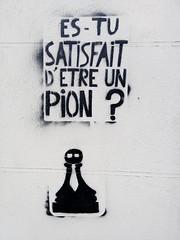 IMG_20160331_190618 (Cocomilie) Tags: wall graffiti tags anarchism slogan nantes manifestation punchline loitravail