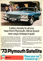 1973 Plymouth Satellite Ad (Canada) (aldenjewell) Tags: 1973 plymouth satellite hardtop 2door canada ad