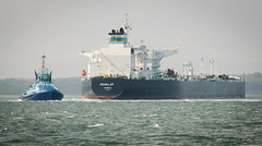 Penelop Tanker (sunnyisle) Tags: port solent tug southampton cowes brambles tanker wight sandbank gurnard
