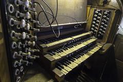 20160624_Keyboard blues (Damien Walmsley) Tags: urban yellow keys hall birmingham keyboard decay central blues organ methodist stops hiddenspaces centralmethodisthall