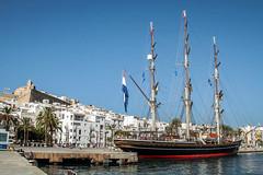 Stad Amsterdam  - atracado en Ibiza - (ibzsierra) Tags: stadamsterdam puerto port harbor ibiza eivissa baleares canon 7d barca boat ship vesel bateau tallship cielo azul blue sky 24105isusm