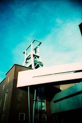 Bergbaumuseum (somekeepsakes) Tags: film museum analog germany deutschland lomo xpro crossprocessed europa europe kodak analogue bochum frderturm ruhrgebiet zeche 2012 ruhrpott industriekultur bergbau ebx kodakelitechromeextracolor100