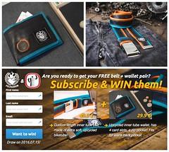 Win a Felvarrom Recycled Innertube Wallet & Belt (irecyclart) Tags: fashion bike belt recycled wallet accessories innertube