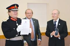 Merfyn accepting award
