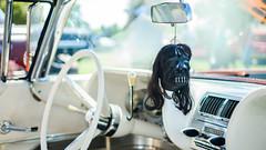 That voodoo that you do (GmanViz) Tags: color detail ford car mirror nikon automobile interior 1958 dashboard rearview windshield custom thunderbird steeringwheel 1959 shrunkenhead 1960 kustom gmanviz d7000