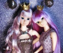 A-Z Challenge: D - dapper/darling duo ( Lily Queens ) Tags: tiara flower asian cool doll purple fireworks d ooak duo contest lilac date darling bic reborn saori sekiguchi momoko reroot frapig