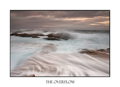Sunrise and Ocean overflows (sugarbellaleah) Tags: ocean morning sea sky seascape water pool clouds danger sunrise landscape movement moody cloudy tide australia coastal flowing rough southcoast swell overflow rockpool bluepool bermagui flows