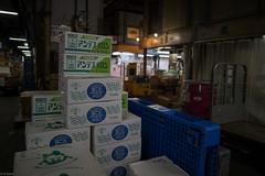 box of melon (kasa51) Tags: japan tokyo tsukiji melon cardboardbox  fruitandvegetablemarket