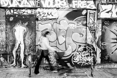 (Tom Plevnik) Tags: street new city travel people urban blackandwhite paris public monochrome photography graffiti nikon flickr outdoor candid places human bnw