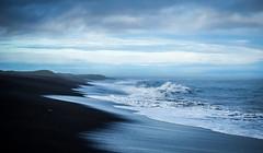 Black Beach (Elin Laxdal) Tags: sea sky black beach clouds iceland sand waves