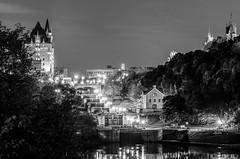 Rideau Canal Locks (WC Photography) Tags: longexposure nightphotography blackandwhite bw night nikon downtown ottawa rideaucanal chateaulaurier bytownmuseum nikond5100