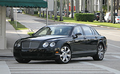 Bentley Continental Flying Spur (RudeDude2140a) Tags: black sports car sedan spur flying continental exotic bentley